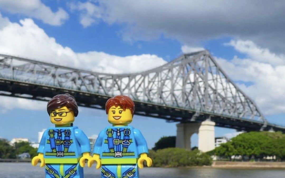 Lego Minifigures visit Brisbane