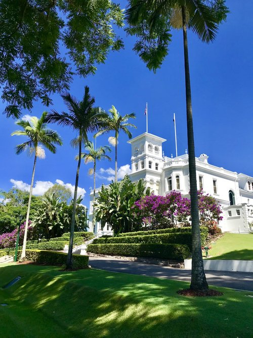 Lady Brisbane visits Government House