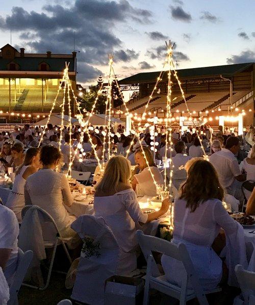 Brisbane's night of white