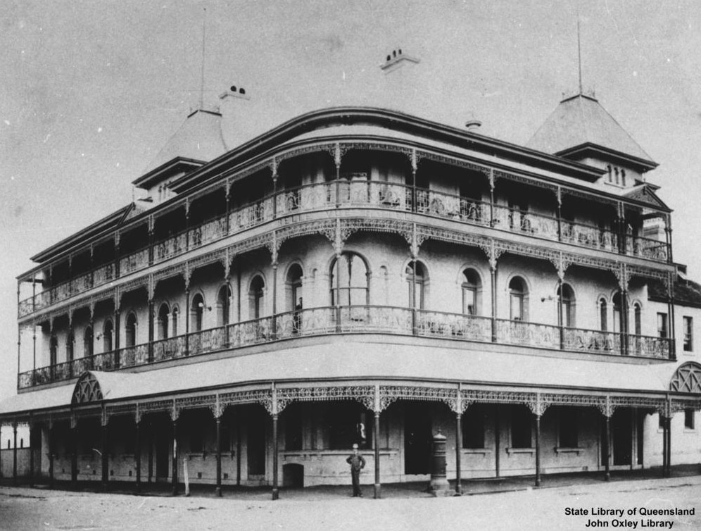 Bellevue Hotel. Image credit - State Library of Queensland, John Oxley Library.