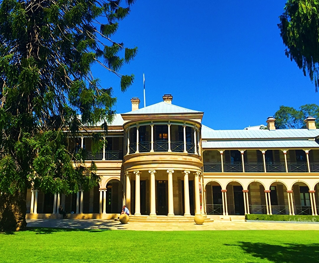 Old Government House, Lord and Lady Lamington's residence.