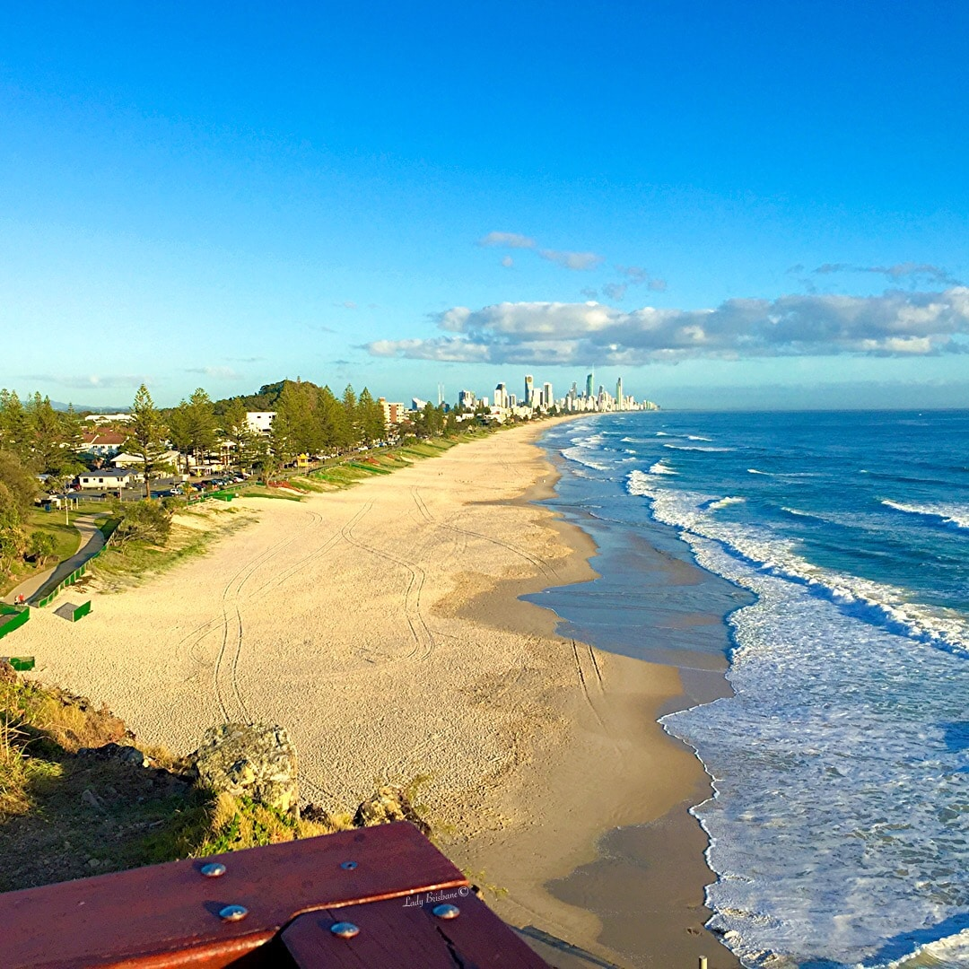 View from North Burleigh Lookout towards Surfers Paradise.