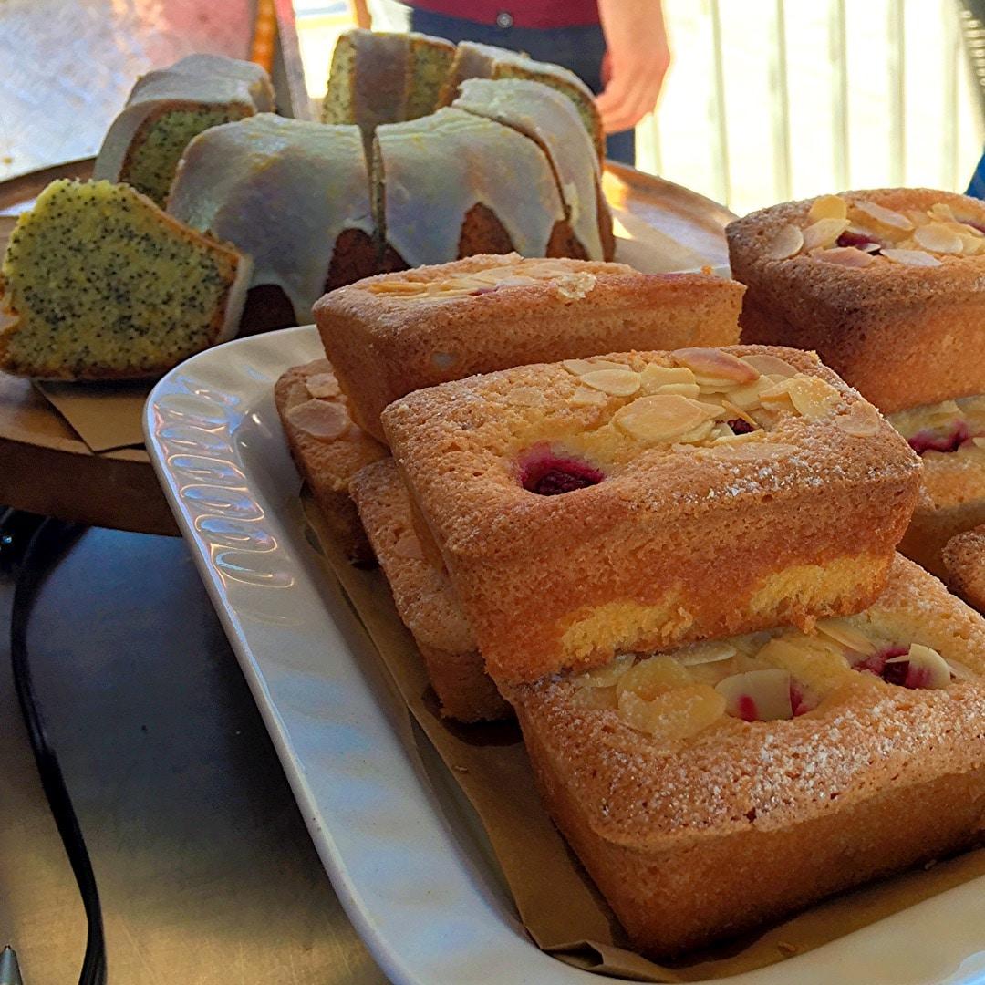 Raspberry & Almond Friands, Orange & Poppyseed cake