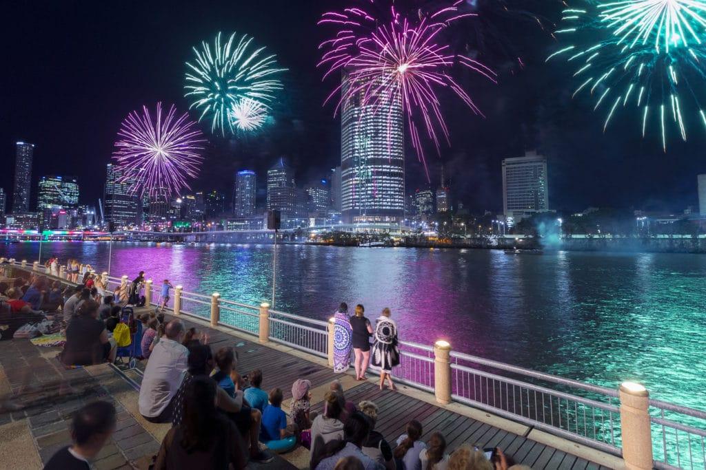 South Bank Christmas Fireworks