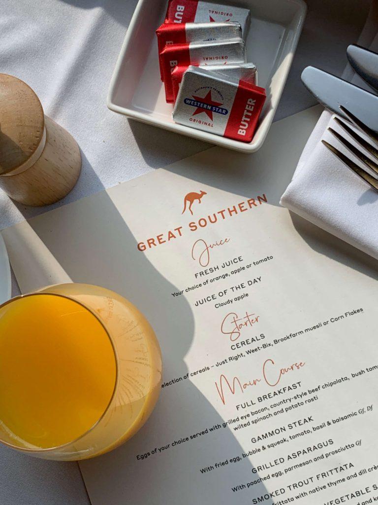Great Southern Lady Brisbane breakfast