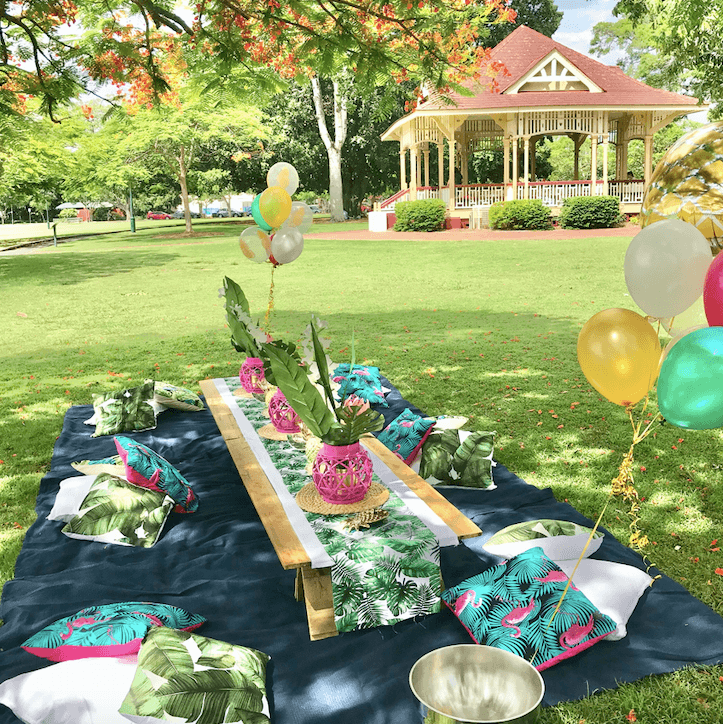 Tropical luxe picnic package