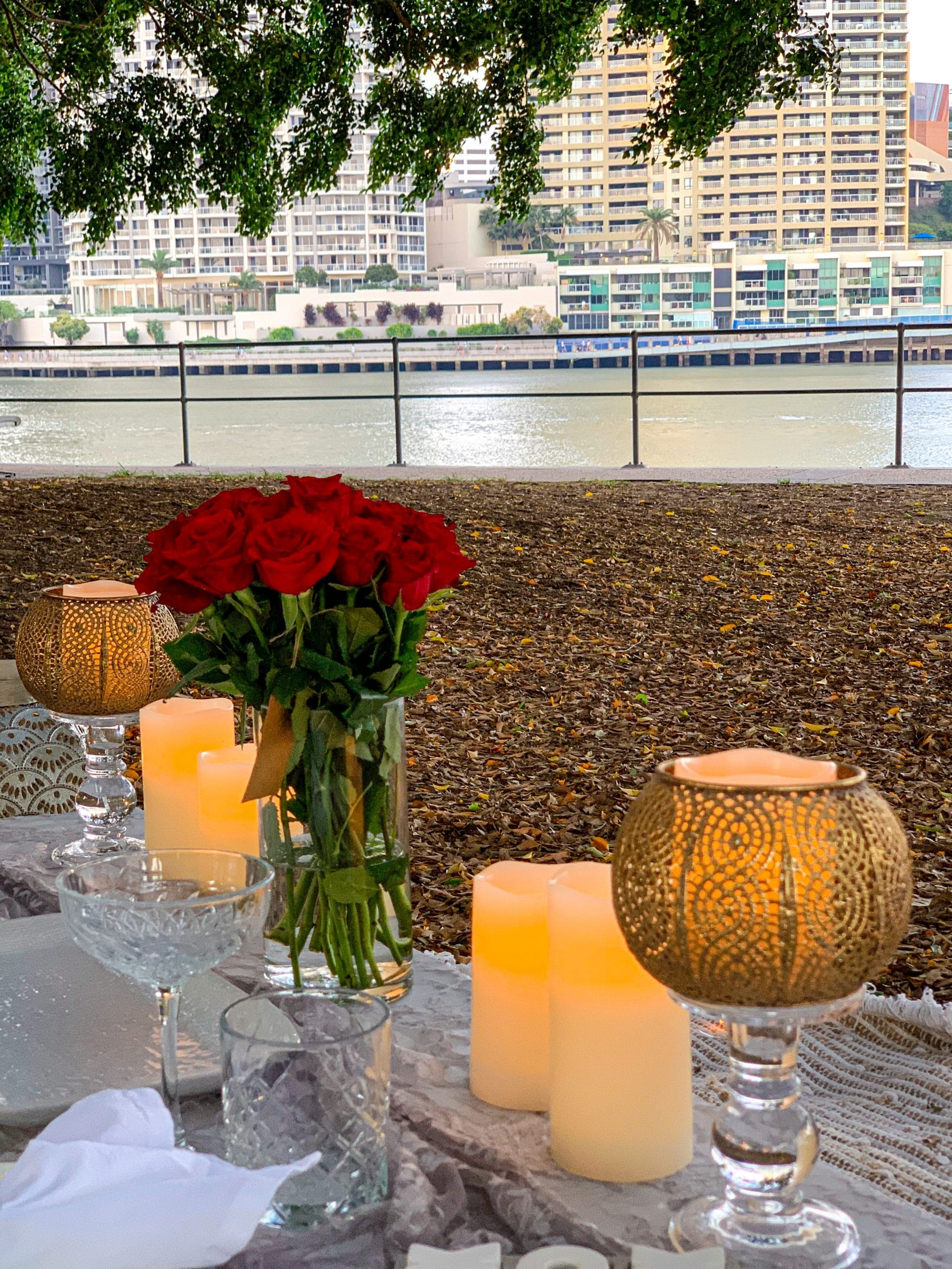 Lady Brisbane Date Night picnic
