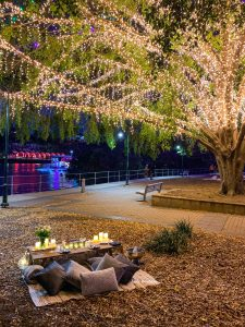 Lady Brisbane Date Night picnic