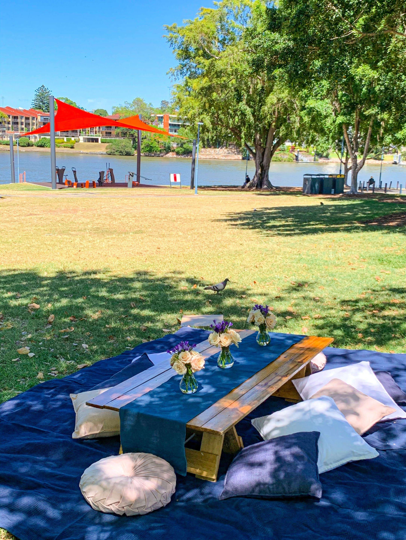 Navy and Blush picnic