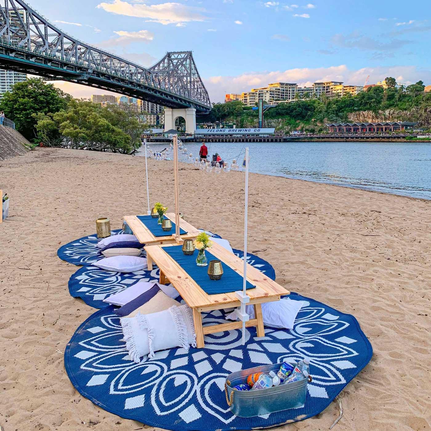 Stylish Low Table Picnics Brisbane